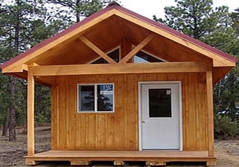 طراحی داخلی کانکس چوبی
