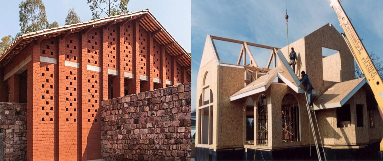 سازه پیش ساخته، مصالح سنتی