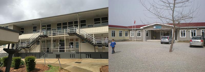سازه پیش ساخته مدرسه
