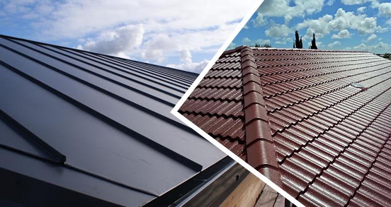انواع پوشش سقفهای شیبدار