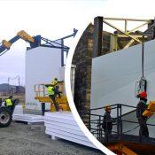 نصب و اجرای ساندویچ پانل های دیواری و سقفی