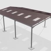 ویدئو اجرای پارکینگ مسقف با ورق فلزی