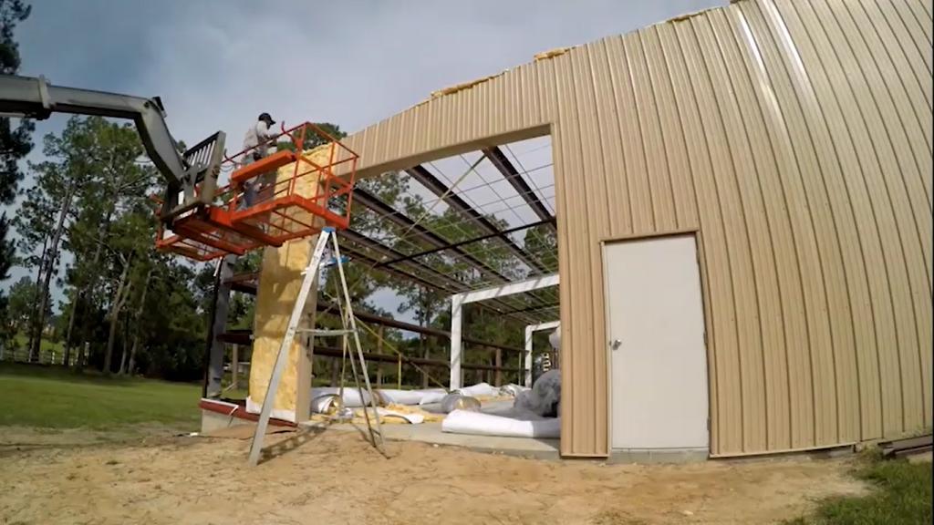 اجرای سوله به روش ساخت در محل