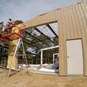 ویدئو اجرای سوله به روش ساخت در محل